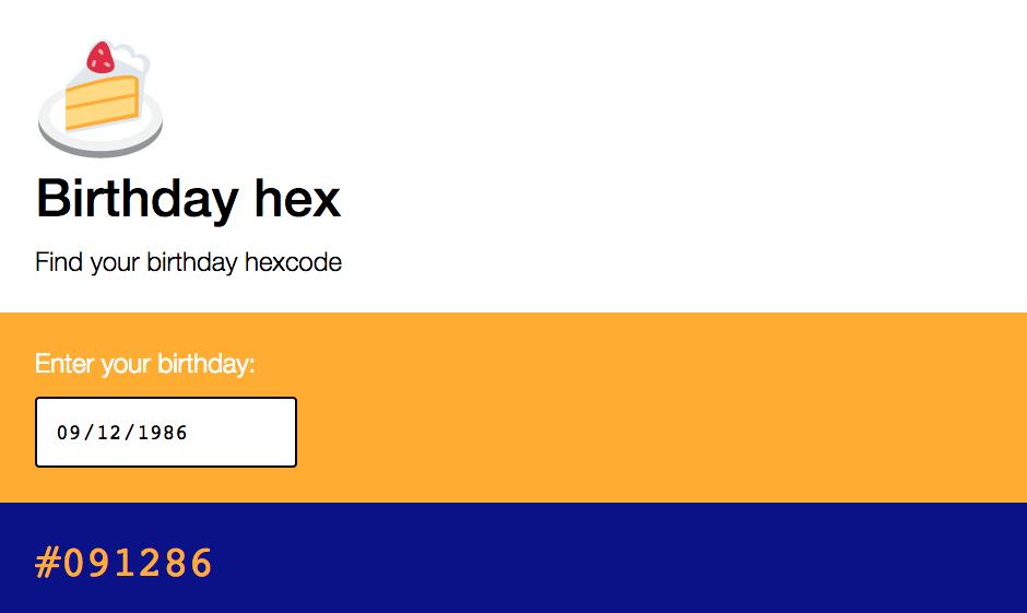 Birthday hex